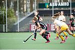 AMSTELVEEN - Hockey - Hoofdklasse competitie dames. AMSTERDAM-DEN BOSCH (3-1). Maria Verschoor (A'dam) met rechts Danielle vd Verdonk     COPYRIGHT KOEN SUYK
