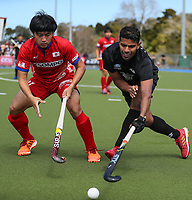 Jared Panchia. International Hockey, Blacksticks Men v Japan, TET Multisport Centre, Stratford, New Zealand. Saturday 12 October 2019. Photo: Simon Watts/www.bwmedia.co.nz/HockeyNZ