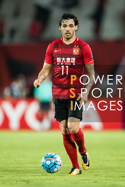 Guangzhou Forward Ricardo Goulart in action during the AFC Champions League 2017 Quarter-Finals match between Guangzhou Evergrande (CHN) vs Shanghai SIPG (CHN) at the Tianhe Stadium on 12 September 2017 in Guangzhou, China. Photo by Marcio Rodrigo Machado / Power Sport Images