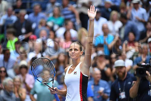 04.09.2016. Flushing Meadows, New York, USA. US Open 2016 Grand Slam tennis tournament.  Karolina Pliskova (CZE) beats Venus Williams (USA) in 3 sets