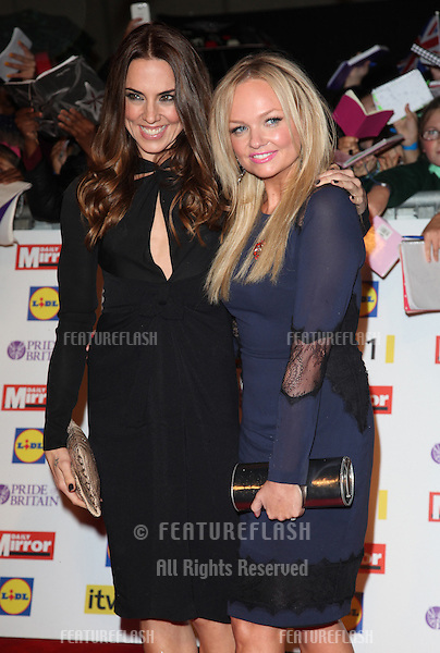 Melanie Chisholm and Emma Bunton arriving for the 2012 Pride of Britain Awards, at the Grosvenor House Hotel, London. 29/10/2012 Picture by: Alexandra Glen / Featureflash
