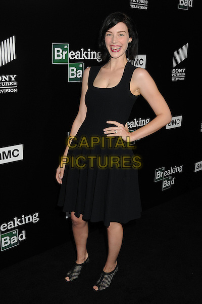 Jessica Pare<br /> &quot;Breaking Bad&quot; Final Episodes Los Angeles Premiere Screening held at Sony Pictures Studios, Culver City, California, USA, 24th July 2013.<br /> full length black dress hand on hip peep toe ankle boots shoes <br /> CAP/ADM/BP<br /> &copy;Byron Purvis/AdMedia/Capital Pictures