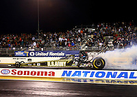 Jul. 26, 2013; Sonoma, CA, USA: NHRA top fuel dragster driver Tony Schumacher during qualifying for the Sonoma Nationals at Sonoma Raceway. Mandatory Credit: Mark J. Rebilas-