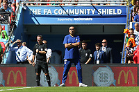 Chelsea Manager, Maurizio Sarri during Chelsea vs Manchester City, FA Community Shield Football at Wembley Stadium on 5th August 2018