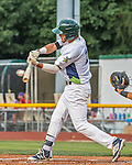 21 July 2016: Vermont Lake Monsters outfielder Luis Barrera in first inning action against the Hudson Valley Renegades at Centennial Field in Burlington, Vermont. The Lake Monsters edged out the Renegades 4-3 in NY Penn League play. Mandatory Credit: Ed Wolfstein Photo *** RAW (NEF) Image File Available ***