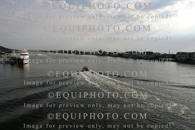 Fishing boats on the Shrewsbury River in Sea Bright, New Jersey. Photo By Bill Denver/EQUI-PHOTO