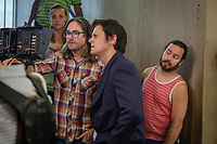 ACTION POINT (2018)<br /> (L-R) Crew member, Director, Tim Kirkby, Johnny Knoxville, Chris Pontius on the set <br /> *Filmstill - Editorial Use Only*<br /> CAP/FB<br /> Image supplied by Capital Pictures