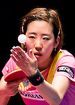 Yang Haeun of South Korea vs Kasumi Ishikawa of Japan at their Women's Singles Quarter Final match during the Seamaster Qatar 2016 ITTF World Tour Grand Finals at the Ali Bin Hamad Al Attiya Arena on 10 December 2016, in Doha, Qatar. Photo by Victor Fraile / Power Sport Images
