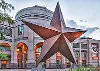 Bob Bullock Museum is the history of Texas over time and is located in downtown Austin.  It is part of the city of Austin desirable tourist attraction along with the Capital of Texas.   The front of the museum has the most iconic statue of a giant star which is very symbolic of the lone star state and it now part of the Austin cityscape.