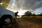 Barbeque and camping in the Arizona landscaep