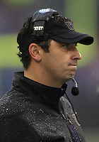 Oct 30, 20010:  Washington head coach Steve Sarkisian watches his team from the sidelines against Stanford.  Stanford defeated Washington 41-0 at Husky Stadium in Seattle, Washington.