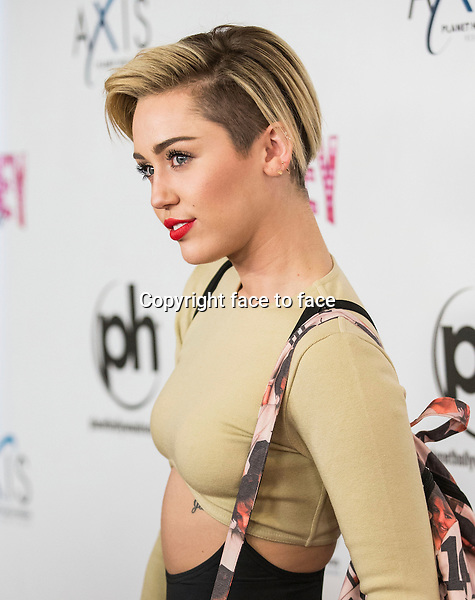 LAS VEGAS, NV - December 27 : Miley Cyrus pictured at the opening night of Britney Spears' 'Britney: Piece of Me' show at Planet Hollywood Resort on December 27, 2013 in Las Vegas, NV. Credit: Kabik/Starlitepics/MediaPunch Inc.<br /> Credit: MediaPunch/face to face<br /> - Germany, Austria, Switzerland, Eastern Europe, Australia, UK, USA, Taiwan, Singapore, China, Malaysia, Thailand, Sweden, Estonia, Latvia and Lithuania rights only -