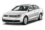 Front three quarter view of a <br /> 2011 Volkswagen Jetta S Sedan