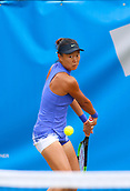 June 13th 2017, The Northern Lawn tennis Club, Manchester, England; ITF Womens tennis tournament; Number one seed Kai-Chen Chang (TPE) hits a backhand during her first round singles match against Danielle Lao (USA); Chang won in straight sets