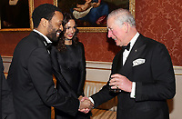 12 March 2019 - London, England - Chiwetel Ejiofor and Girlfriend Frances Aaternir with Prince Charles, Prince of Wales during a dinner to celebrate The Princes Trust at Buckingham Palace in London. The Prince of Wales, President, The Princes Trust Group hosted a  dinner for donors, supporters and ambassadors of Princes Trust International. Photo Credit: ALPR/AdMedia