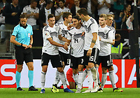 celebrate the goal, Torjubel zum 2:1 um Nico Schulz (Deutschland Germany) - 09.09.2018: Deutschland vs. Peru, Wirsol Arena Sinsheim, Freundschaftsspiel DISCLAIMER: DFB regulations prohibit any use of photographs as image sequences and/or quasi-video.