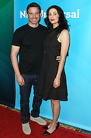 PASADENA, CA, USA - APRIL 08: Eddie McClintock, Joanne Kelly at the NBCUniversal Summer Press Day 2014 held at The Langham Huntington Hotel and Spa on April 8, 2014 in Pasadena, California, United States. (Photo by Xavier Collin/Celebrity Monitor)
