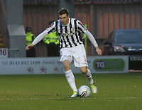 Paul Dummett in the St Mirren v Kilmarnock Clydesdale Bank Scottish Premier League match played at St Mirren Park, Paisley on 2.1.13.