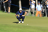 Tom Lewis (ENG) on the 16th green during Friday's Round 2 of the 2018 Turkish Airlines Open hosted by Regnum Carya Golf &amp; Spa Resort, Antalya, Turkey. 2nd November 2018.<br /> Picture: Eoin Clarke | Golffile<br /> <br /> <br /> All photos usage must carry mandatory copyright credit (&copy; Golffile | Eoin Clarke)