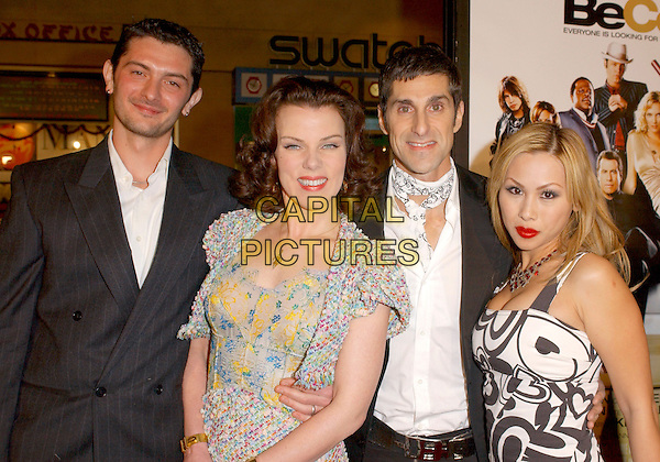 """DEBI MAZAR & HUSBAND, PERRY FARRELL & WIFE.Attends MGM's World Premiere of """"Be Cool"""" held at The Grauman's Chinese Theatre in Hollywood, California, USA, February 14th 2005.half length.Ref: DVS.www.capitalpictures.com.sales@capitalpictures.com.©Capital Pictures."""