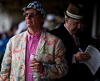 LOUISVILLE, KY - MAY 05: A man holds his drink on Kentucky Oaks Day at Churchill Downs on May 5, 2017 in Louisville, Kentucky. (Photo by Scott Serio/Eclipse Sportswire/Getty Images)