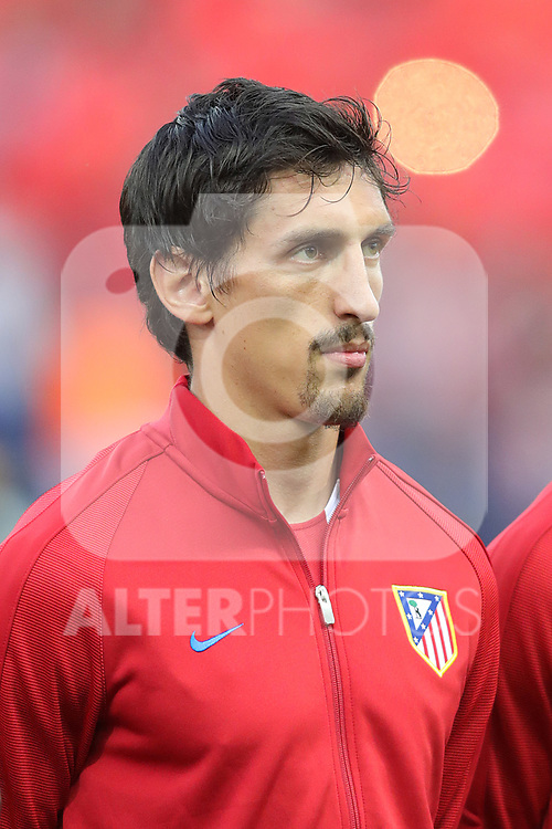 Atletico de Madrid's Stefan Savic during Champions League 2016/2017 Quarter-finals 1st leg match. April 12,2017. (ALTERPHOTOS/Acero)