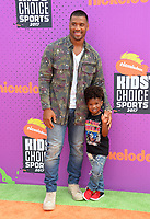 Russell Wilson &amp; Guest at Nickelodeon's Kids' Choice Sports 2017 at UCLA's Pauley Pavilion. Los Angeles, USA 13 July  2017<br /> Picture: Paul Smith/Featureflash/SilverHub 0208 004 5359 sales@silverhubmedia.com