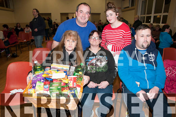 Listowel Bizarre : Attending the annual Listowel Bizarre at Scoil Reatla na Madna on Saturday night last were Margaret Coffey, Margaret Doyle & Con Dowling. Back : Eugene O'Connor & Danielle Foley.