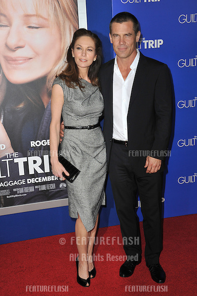 "Josh Brolin & wife Diane Lane at the Los Angeles premiere of ""Guilt Trip"" at the Regency Village Theatre, Westwood..December 11, 2012  Los Angeles, CA.Picture: Paul Smith / Featureflash"