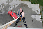 Fire Station Calender.Rope Access.Photo: Fran Caffrey/www.newsfile.ie..