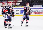 S&ouml;dert&auml;lje 2014-10-23 Ishockey Hockeyallsvenskan S&ouml;dert&auml;lje SK - Malm&ouml; Redhawks :  <br /> S&ouml;dert&auml;ljes Robert Carlsson deppar med Jonathan Carlsson och Christopher Aspeqvist efter matchen mellan S&ouml;dert&auml;lje SK och Malm&ouml; Redhawks <br /> (Foto: Kenta J&ouml;nsson) Nyckelord: Axa Sports Center Hockey Ishockey S&ouml;dert&auml;lje SK SSK Malm&ouml; Redhawks depp besviken besvikelse sorg ledsen deppig nedst&auml;md uppgiven sad disappointment disappointed dejected