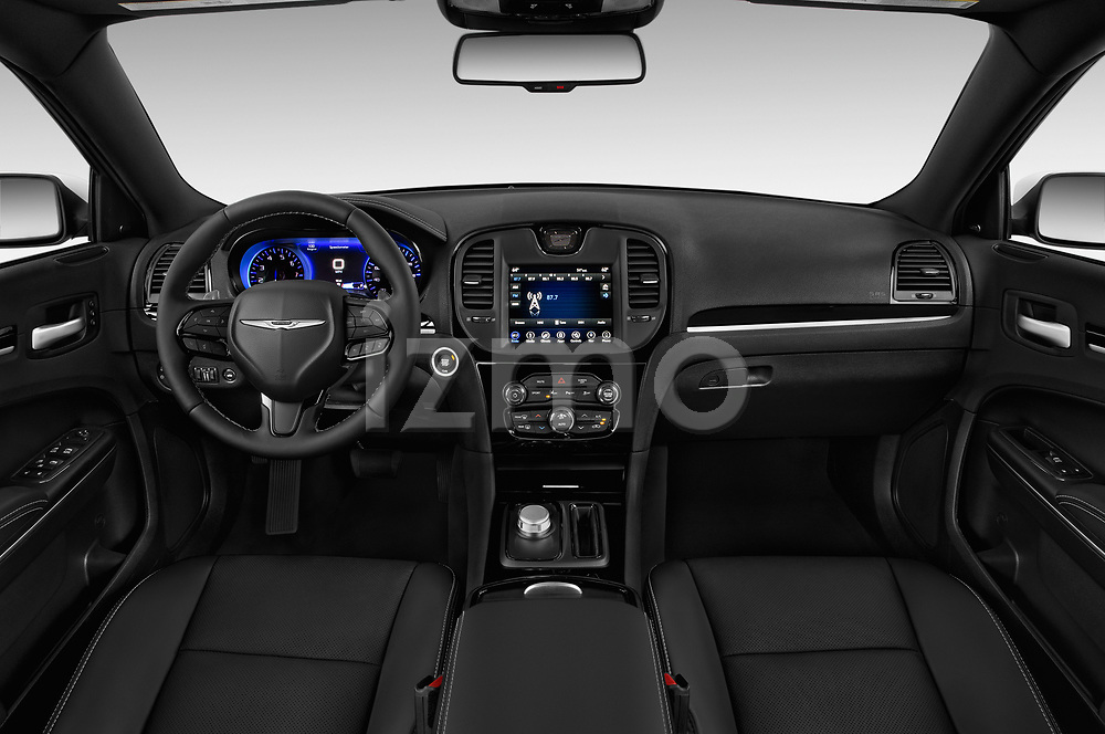 Stock photo of straight dashboard view of a 2018 Chrysler 300 S 4 Door Sedan