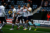 9th November 2019; Deepdale Stadium, Preston, Lancashire, England; Championship Football, Preston North End versus Huddersfield Town; Alan Browne of Preston North End celebrates with his team mates after he scored his team's second goal to make the score 2-0 - Strictly Editorial Use Only. No use with unauthorized audio, video, data, fixture lists, club/league logos or 'live' services. Online in-match use limited to 120 images, no video emulation. No use in betting, games or single club/league/player publications
