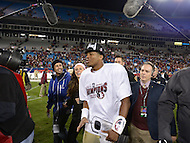 December 7, 2013  (Charlotte, North Carolina)  Florida State Seminoles quarterback Jameis Winston #5 heads to the locker room following a media availability after his team won the ACC Championship December 7, 2013. Winston was named game MVP. (Photo by Don Baxter/Media Images International)