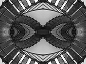 Decision is an Escher-like pattern created from a photograph of metal, lighthouse stairs taken in Oregon. The resultant image can be hung either as a portrait or a landscape - the choice up to the persons hanging it - their decision - their preference. The image is best printed on metallic finished paper. Awarded 2nd Place, Fall 2010, Bethlehem Art Assoc.