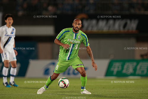 Bruno Cesar (Bellmare), <br /> APRIL 18, 2015 - Football /Soccer : <br /> 2015 J1 League 1st stage match <br /> between Shonan Bellmare 0-2 Gamba Osaka <br /> at Shonan BMW Stadium Hiratsuka, Kanagawa, Japan. <br /> (Photo by AFLO SPORT)
