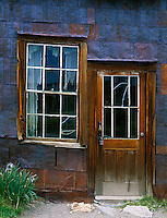 Bodie State Historic Park, CA<br /> Side door and window of the Boone store and warehouse