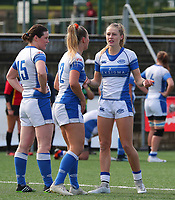 20190928 - Neder Over Hembeek, BELGIUM : AAC Amsterdam's players are pictured during the female rugby match between the Dendermonde RC Women  and AAC Amsterdam Rugby Women, this is the final of the BeNeCup  on Saturday 28th September 2019 at the Nelson Mandela Stadium , Belgium. PHOTO SPORTPIX.BE | SEVIL OKTEM