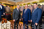 Micheal Moran of Ryle Menswear with Toma s O  Se and Dara Ó Sé