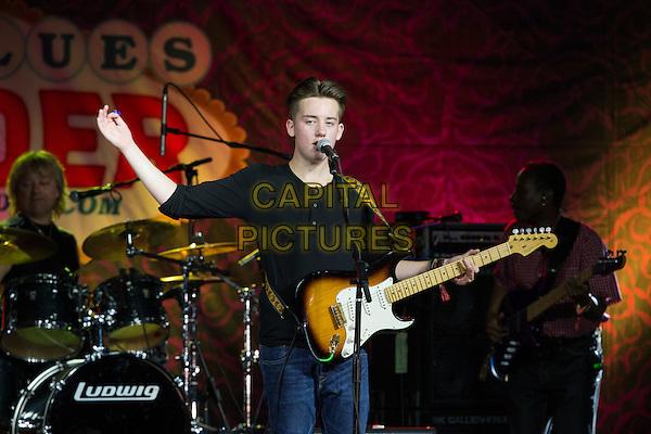 LAS VEGAS, NV - September 12: ***HOUSE COVERAGE*** Quinn Sullivan   pictured at The Big Blues Bender at The Plaza Hotel &amp; Casino in Las Vegas, NV on September 125, 2015. <br /> CAP/MPI/EKP<br /> &copy;EKP/MPI/Capital Pictures