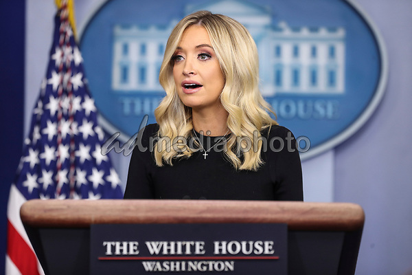 White House Press Secretary Kayleigh McEnany speaks during a press briefing in the James Brady Press Briefing Room of the White House on May 26, 2020 in Washington, DC.<br /> Credit: Oliver Contreras / Pool via CNP/AdMedia