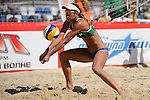 30.05.2015, Moskau, Vodny Stadion<br /> Moskau Grand Slam, Main Draw / Viertelfinale<br /> <br /> Annahme Liliane Maestrini (#1BRA)<br /> <br />   Foto &copy; nordphoto / Kurth