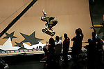 Bob Burnquist competes in the Men's Skateboarding Vert finals at the Staples Center during X-Games 12 in Los Angeles, California on August 3, 2006.