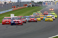 Round 10 of the 2002 British Touring Car Championship. Race Start.