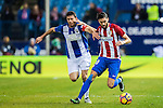 Yannick Ferreira Carrasco (r) of Atletico de Madrid battles for the ball with Alberto Martin of Deportivo Leganes during their La Liga match between Atletico de Madrid and Deportivo Leganes at the Vicente Calderón Stadium on 04 February 2017 in Madrid, Spain. Photo by Diego Gonzalez Souto / Power Sport Images