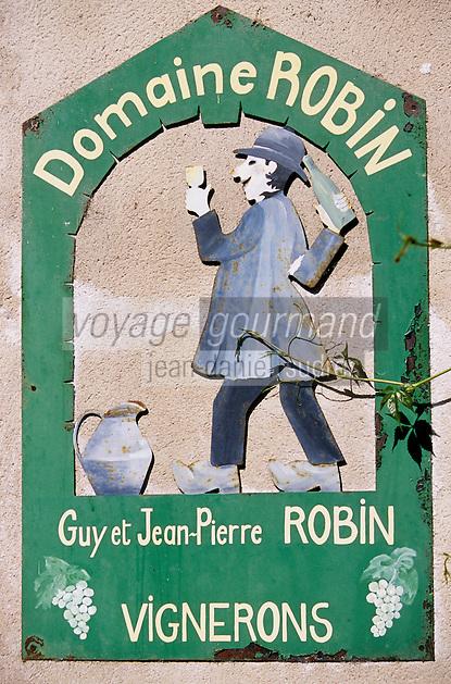 France/21/Côte d'Or/Chablis: Enseigne d'un vigneron