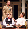 My Night with Reg <br /> by Kevin Elyot <br /> at the Apollo Theatre, London, Great Britain <br /> Press photocall<br /> 20th January 2015 <br /> <br /> Geoffrey Streatfeild as Daniel <br /> Jonathan Broadbent as Guy <br /> Julian Ovenden as John <br /> <br /> <br /> Photograph by Elliott Franks <br /> Image licensed to Elliott Franks Photography Services