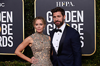 Golden Globe nominee Emily Blunt and John Krasinski attends the 76th Annual Golden Globe Awards at the Beverly Hilton in Beverly Hills, CA on Sunday, January 6, 2019.<br /> *Editorial Use Only*<br /> CAP/PLF/HFPA<br /> Image supplied by Capital Pictures