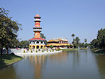 Bang Pa-In Royal Residence and Sages Lookout Tower near Bangkok, Thailand.