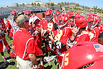 San Diego, CA 05/21/11 - Cathedral Catholic Coach Gordie Mapes addresses the Dons before the start of the game for the 2011 CIF San Diego Section Division 2 Varsity Lacrosse Championship between Cathedral Catholic and Coronado.